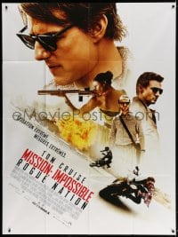 4b903 MISSION: IMPOSSIBLE ROGUE NATION French 1p 2015 Tom Cruise, Jeremy Renner, Simon Pegg