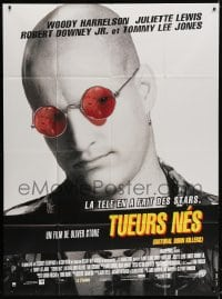 4b910 NATURAL BORN KILLERS French 1p 1994 Oliver Stone cult classic, great image of Woody Harrelson