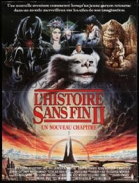 4b912 NEVERENDING STORY 2 French 1p 1991 George Miller sequel, different Casaro fantasy art!