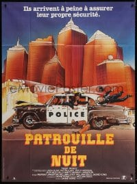 4b913 NIGHT PATROL French 1p 1985 these weirdos and perverts are wearing badges, cool cartoon art!