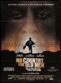 4b914 NO COUNTRY FOR OLD MEN French 1p 2007 The Coens, Josh Brolin, Javier Bardem, Tommy Lee Jones!