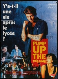 4b923 PUMP UP THE VOLUME French 1p 1990 Christian Slater, Seth Green, Andy Romano, Samantha Mathis