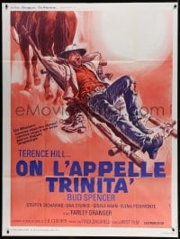 4b970 THEY CALL ME TRINITY French 1p 1971 great different Renato Casaro art of Terence Hill!