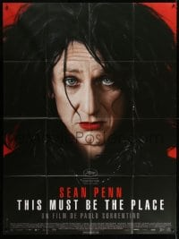4b973 THIS MUST BE THE PLACE French 1p 2011 wacky close portrait of Sean Penn in drag!
