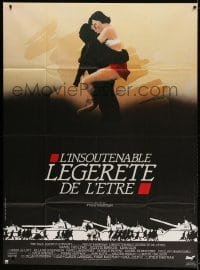4b981 UNBEARABLE LIGHTNESS OF BEING French 1p 1988 wonderful different art of Day-Lewis & Binoche!
