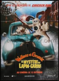 4b987 WALLACE & GROMIT: THE CURSE OF THE WERE-RABBIT advance French 1p 2005 Box & Park claymation!