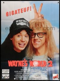 4b990 WAYNE'S WORLD 2 French 1p 1994 Mike Myers, Dana Carvey, from Saturday Night Live sketch!