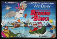 4b752 RESCUERS French 8p 1977 Disney mouse mystery adventure cartoon from depths of Devil's Bayou!