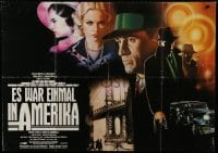 4b165 ONCE UPON A TIME IN AMERICA German 33x47 1984 Sergio Leone, De Niro, different Casaro art!