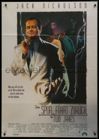 4b167 TWO JAKES German 33x47 1990 cool full-length art of smoking Jack Nicholson by Rodriguez!