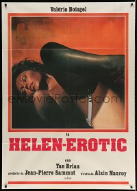 4b246 HELENA Italian 1p R1980 art of near-naked Valerie Boisgel in throes of passion, Helen-Erotic