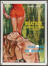 4b255 LA BONZESSE Italian 1p 1978 different art of sexy naked woman shackled & chained!