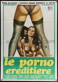 4b257 LES PETITES GARCES Italian 1p 1980 Tino Aller art of guy with two sexy women!