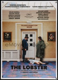 4b260 LOBSTER Italian 1p 2015 different image of Colin Farrell & Rachel Weisz over dead woman!