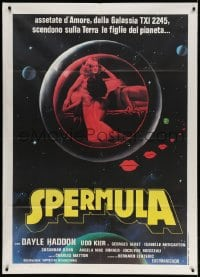 4b277 SPERMULA Italian 1p 1977 great different art of sexy naked female sperm vampires in space!