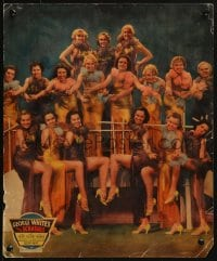 4b043 GEORGE WHITE'S 1935 SCANDALS jumbo LC 1935 great posed portrait of 17 sexy showgirls, rare!