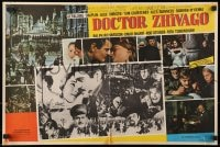 4b180 DOCTOR ZHIVAGO 16x24 Mexican LC R1970s Omar Sharif, Julie Christie, David Lean, great montage!