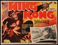 4b185 KING KONG Mexican LC R1950s special FX image of him holding Fay Wray & fighting pterodactyl!