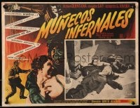 4b191 MUNECOS INFERNALES Mexican LC 1961 Elvira Quintana, cool image of lifeless puppets!