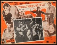 4b193 PASSAGE WEST Mexican LC 1951 montage of pioneers John Payne, Dennis O'Keefe & Arleen Whelan!