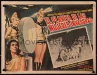 4b194 PLANET OF THE FEMALE INVADERS Mexican LC 1966 great border artwork of sexy alien girls!