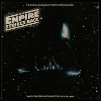 4b011 EMPIRE STRIKES BACK 12x12 soundtrack album flat 1980 c/u of Darth Vader's helmet in space!