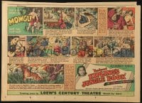 4b024 JUNGLE BOOK 11x15 newspaper comic strip 1942 art of Sabu as Rudyard Kipling's Mowgli!