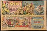 4b025 KISMET 11x16 newspaper comic strip 1944 art of sexy Marlene Dietrich & Ronald Colman!