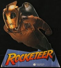 4b035 ROCKETEER die-cut 12x14 video mobile 1991 Disney, cool image of Bill Campbell in costume!