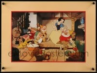 4b032 SNOW WHITE & THE SEVEN DWARFS 12x16 exclusive commemorative lithograph R1994 Disney cartoon!