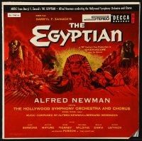 4b113 EGYPTIAN soundtrack record 1954 Curtiz, art of Jean Simmons, Victor Mature & Gene Tierney!