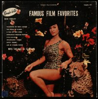 4b114 FAMOUS FILM FAVORITES record 1957 sexy cave girl Bettie Page in leopard skin with cheetahs!