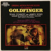 4b116 GOLDFINGER soundtrack English record 1964 Sean Connery as James Bond, Honor Blackman