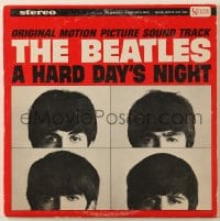 4b117 HARD DAY'S NIGHT soundtrack record 1964 The Beatles in their first film, rock & roll classic!