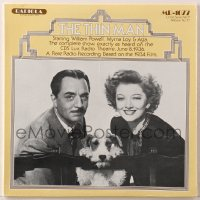 4b121 THIN MAN soundtrack record 1977 William Powell, Myrna Loy & Asta the dog, comedy classic!