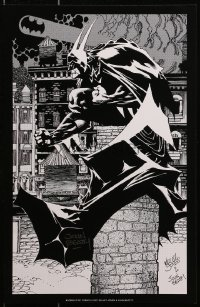 4b030 BATMAN signed 11x17 art print 1990s by artist John Beatty, who drew it with Kelley Jones!