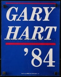 4b009 GARY HART 11x14 political campaign poster 1984 running for United States Senate in Colorado!