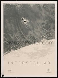 4b031 INTERSTELLAR limited edition IMAX 12x16 art print 2014 Kevin Dat artwork of vessel on huge wave!