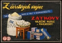 4b019 ZATKOVY 13x18 Czech advertising poster 1930s distributor of delicious noodles & macaroni!