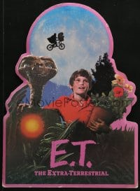 4b037 E.T. THE EXTRA TERRESTRIAL commercial die-cut 12x16 standee 1982 Spielberg, bike over moon!