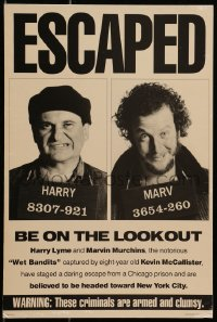 4b038 HOME ALONE 2 standee 1992 wanted poster with Joe Pesci & Daniel Stern, Lost in New York!