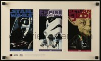 4b016 STAR WARS TRILOGY 11x18 video poster 1995 Lucas, Empire Strikes Back, Return of the Jedi!