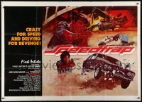 4b013 SPEEDTRAP subway poster 1977 Joe Don Baker, Tyne Daly, cool fiery car chase art!