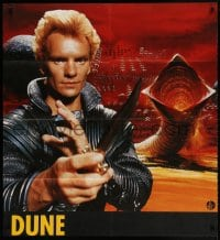 4b040 DUNE teaser Swiss 1984 David Lynch sci-fi epic, different image of Sting & Berkey worm art!