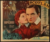 4b002 MARY OF SCOTLAND jumbo WC 1936 art of Katharine Hepburn & Fredric March, John Ford!