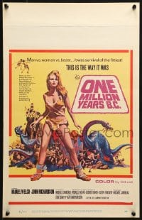 4b601 ONE MILLION YEARS B.C. WC 1967 full-length sexiest prehistoric cave woman Raquel Welch!