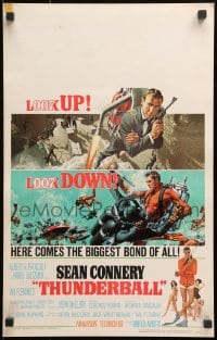 4b670 THUNDERBALL WC 1965 art of Sean Connery as James Bond by Robert McGinnis & Frank McCarthy!