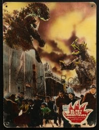 4b012 GIGANTIS THE FIRE MONSTER 2 Spanish LCs 1958 great images of Godzilla fighting Angurus!