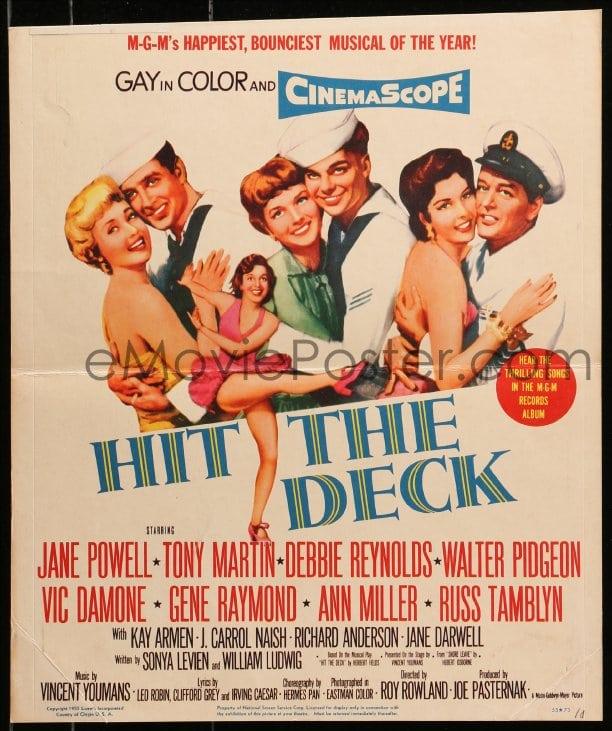 Movie Still Poster Hit The Deck Debbie Reynolds Russ Tamblyn