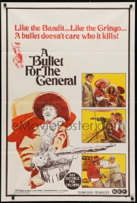4c279 BULLET FOR THE GENERAL Aust 1sh 1968 spaghetti western, a bullet doesn't care who it kills!